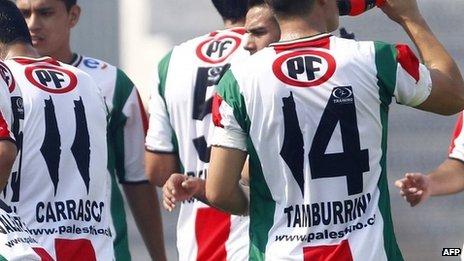 "Equipo de fútbol chileno ""Palestino"""