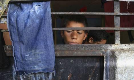 Niños en albergue de Zamora, Michoacán