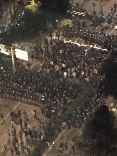 1 de diciembre de 2014, Av. Reforma, Ciudad de México.