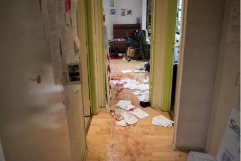 Oficinas de Charlie Hebdo tras el ataque